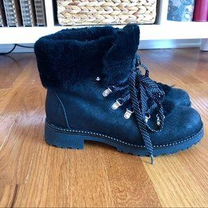J. Crew Black Nordic Winter Combat Boot 9